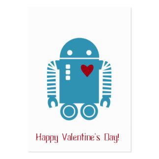 Robot Valentine - Blue Large Business Card