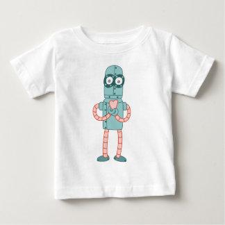Robot Valentine Heart Baby T-Shirt