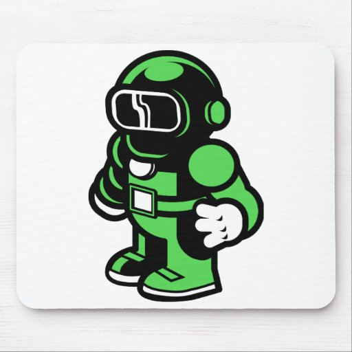 Robot verde tapete de ratón