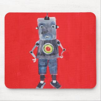 Robot vintage retro 1950s pop art style mouse pad