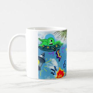 Robot VS Alien Classic White Coffee Mug