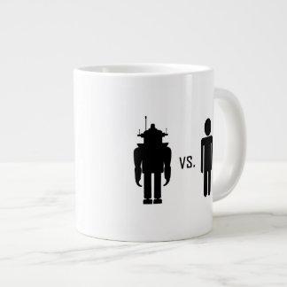Robot vs. Human Large Coffee Mug
