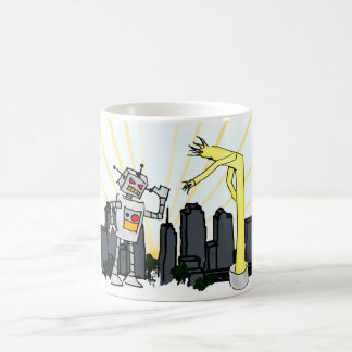 Robot vs Inflatable Tube Man Coffee Mug