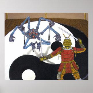 Robot vs Samurai Print