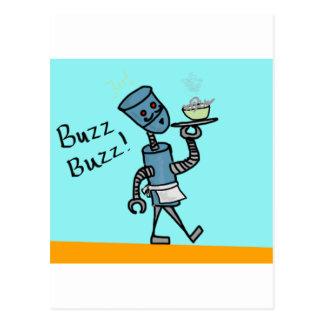 Robot Waiter Postcard