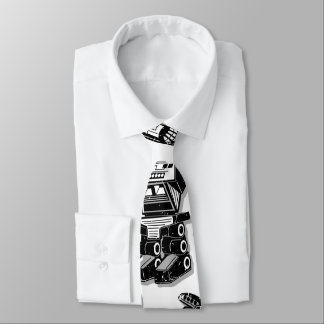 Robot warrior neck tie