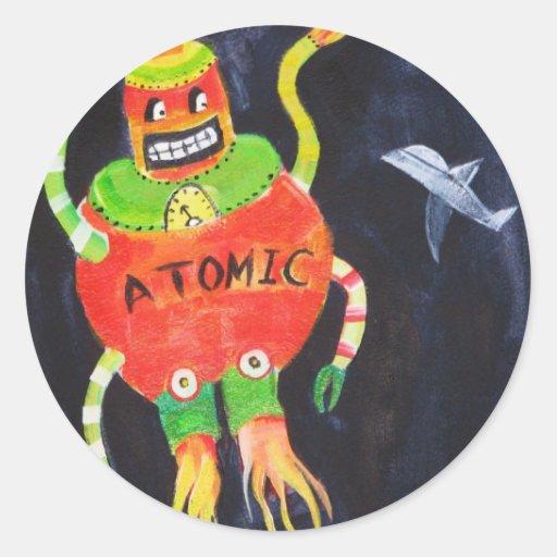Robot Wars Classic Round Sticker