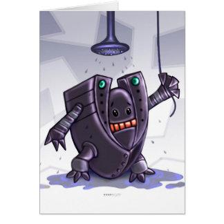 ROBOT WASH CUTE CARTOON  NOTE Card