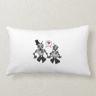 Robot Wedding Lumbar Pillow