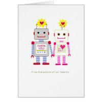 Robot Wedding Thank You Cards