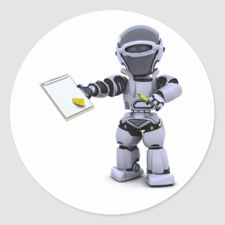 Robot With A Clipboard Stickers