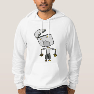 Robot With An Open Head Mens Hoodie