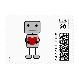 Robot with Heart Postage