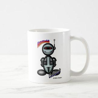 Robot (with logos) basic white mug