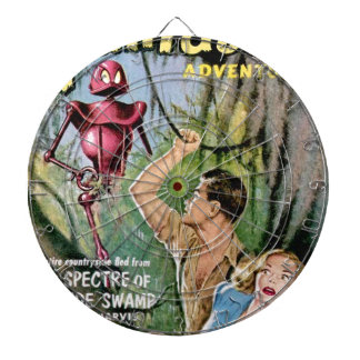 Robot with Mean Eyes Dartboard With Darts