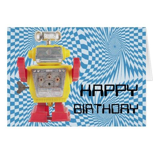 RoBoT X-16 Birthday Card