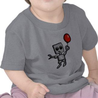 Robot y camisa roja del globo