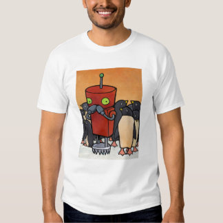 Robot y pingüinos playeras
