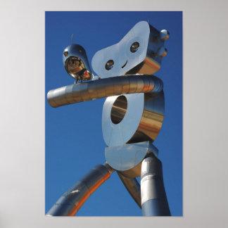 Robot y pío póster