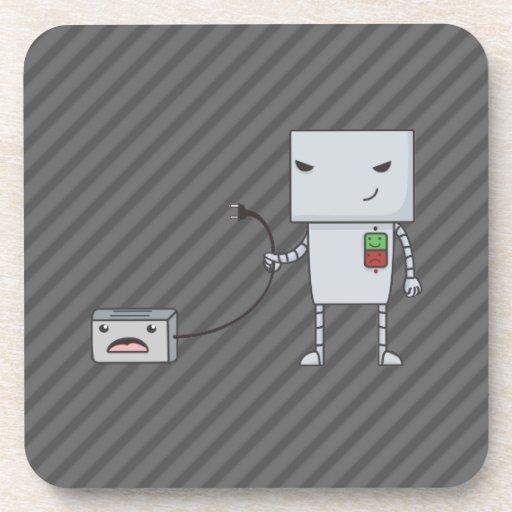 Robot y tostadora posavasos de bebidas