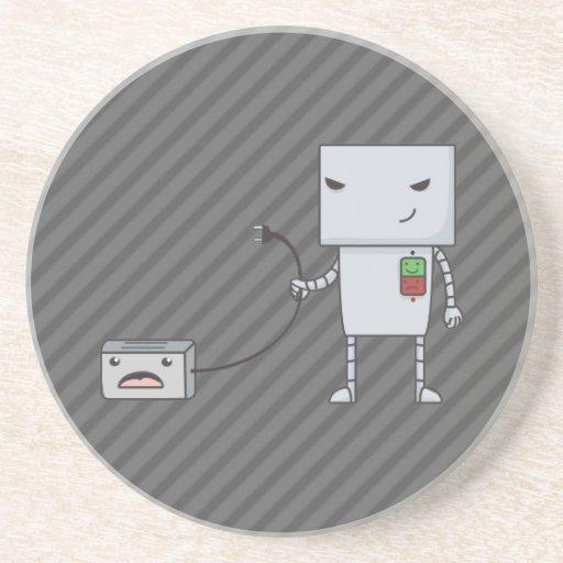 Robot y tostadora posavasos personalizados