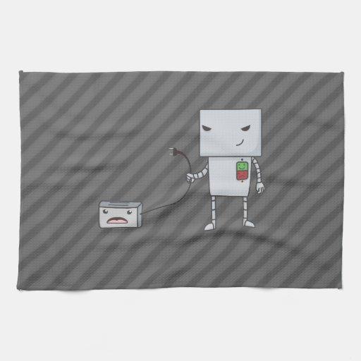 Robot y tostadora toalla de cocina
