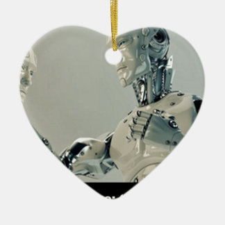 robot you the BE or not you the BE To be or not to Ceramic Ornament