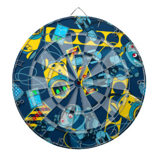 Robot zone dartboard with darts