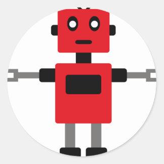 RobotFutuP11 Pegatina Redonda