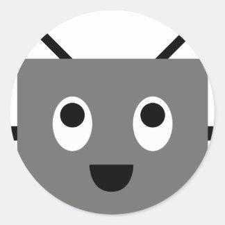RobotFutuP14 Pegatina Redonda