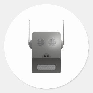 Robothund robodog pegatina redonda