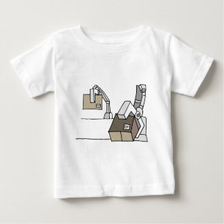 Robotic arm moving boxes baby T-Shirt