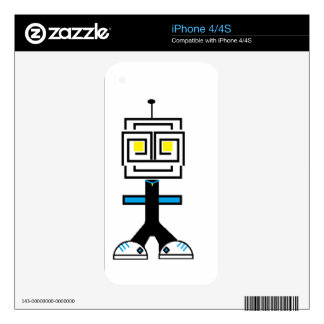 ROBOTIC CARTOON A iPhone 4 DECALS