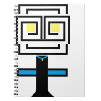 robotic cartoon notebook