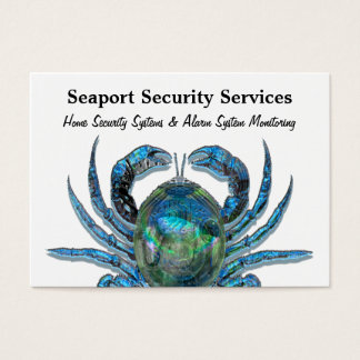 "Robotic Crab Professional  3.5"" x 2.5"" Business Card"