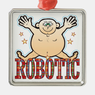 Robotic Fat Man Metal Ornament
