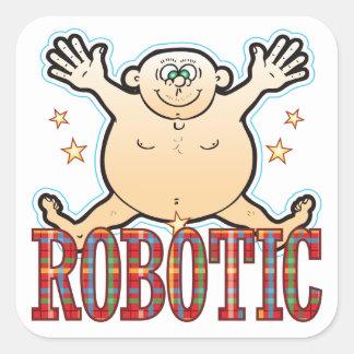 Robotic Fat Man Square Sticker