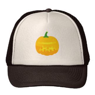 Robotic Jack-O-'Lantern Trucker Hat