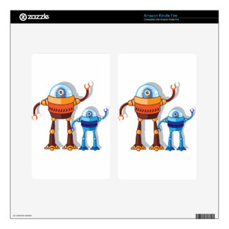 Robotic Monster Decal For Kindle Fire
