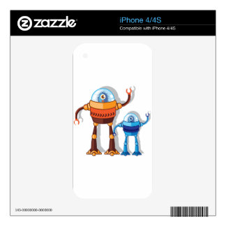 Robotic Monster Decals For iPhone 4S