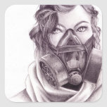 Robotic People: Gas Mask Stickers