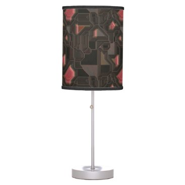 think_out_loud Robotic Pink Cyborg Panel Table Lamp
