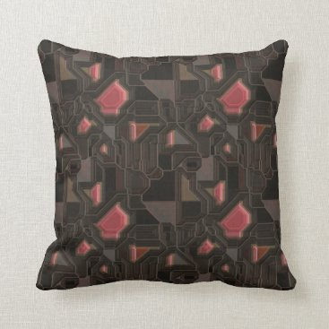 think_out_loud Robotic Pink Cyborg Panel Throw Pillow