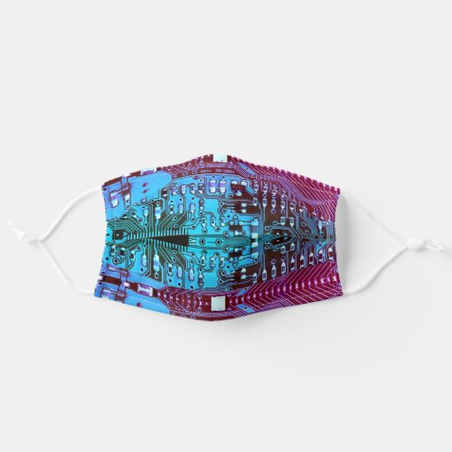 Robotic Printed Circuit Board _ Blue _ Geek Techie Cloth Face Mask