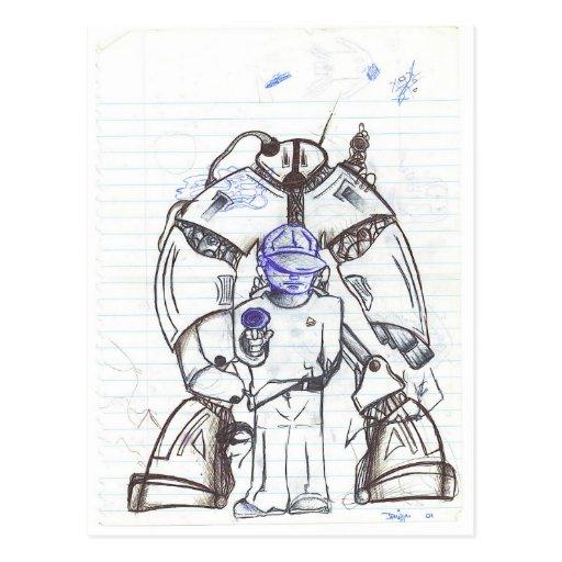 Robotic Protection Postcard