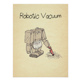 Robotic Vacuum Cleaner Comic Poster