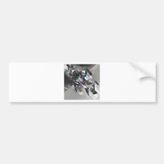 Robótica fresca abstracta de la transformación pegatina de parachoque