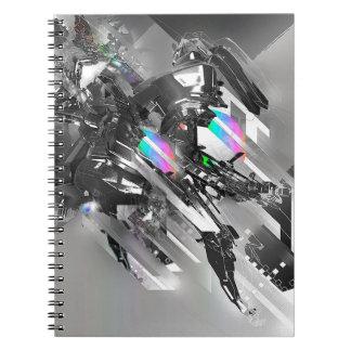 Robótica fresca abstracta de la transformación libros de apuntes