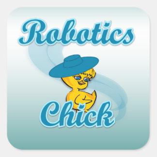 Robotics Chick #3 Square Sticker
