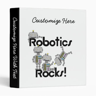 Robotics Rocks 3 Ring Binder